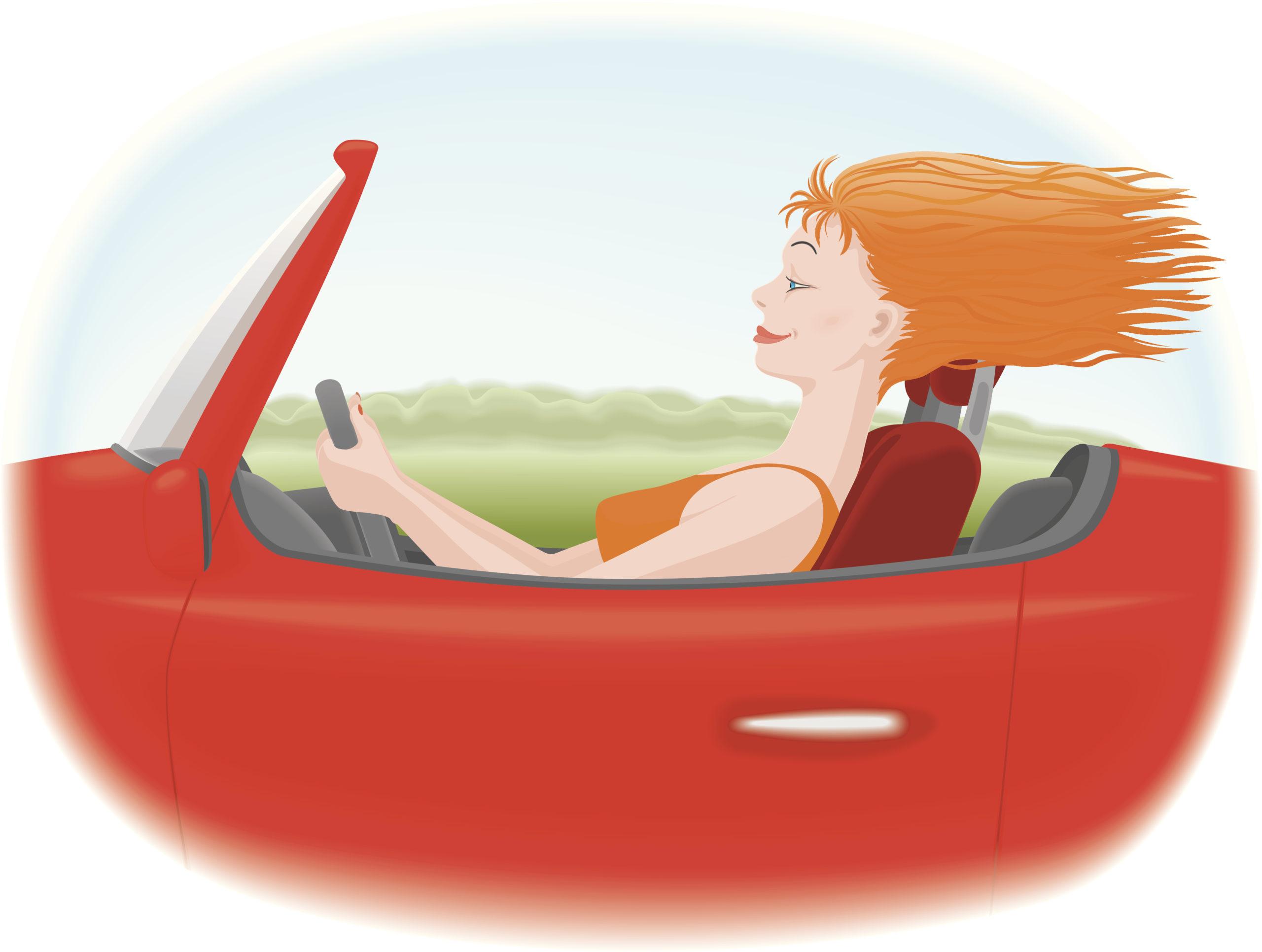 женщина за рулем, осаго